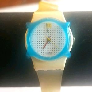 SWATCH Vintage 80's Dotted Watch With Guard